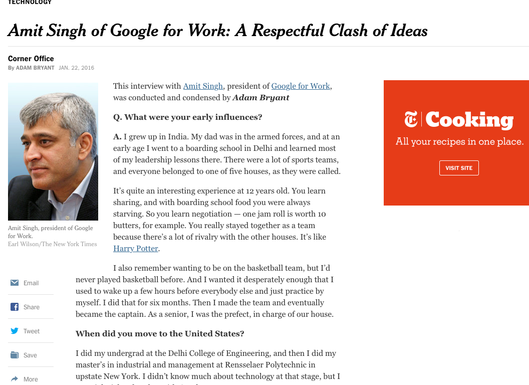 """President of Google for Work: """"the difference between frontline managers and leaders. Leaders find a way to work together"""""""