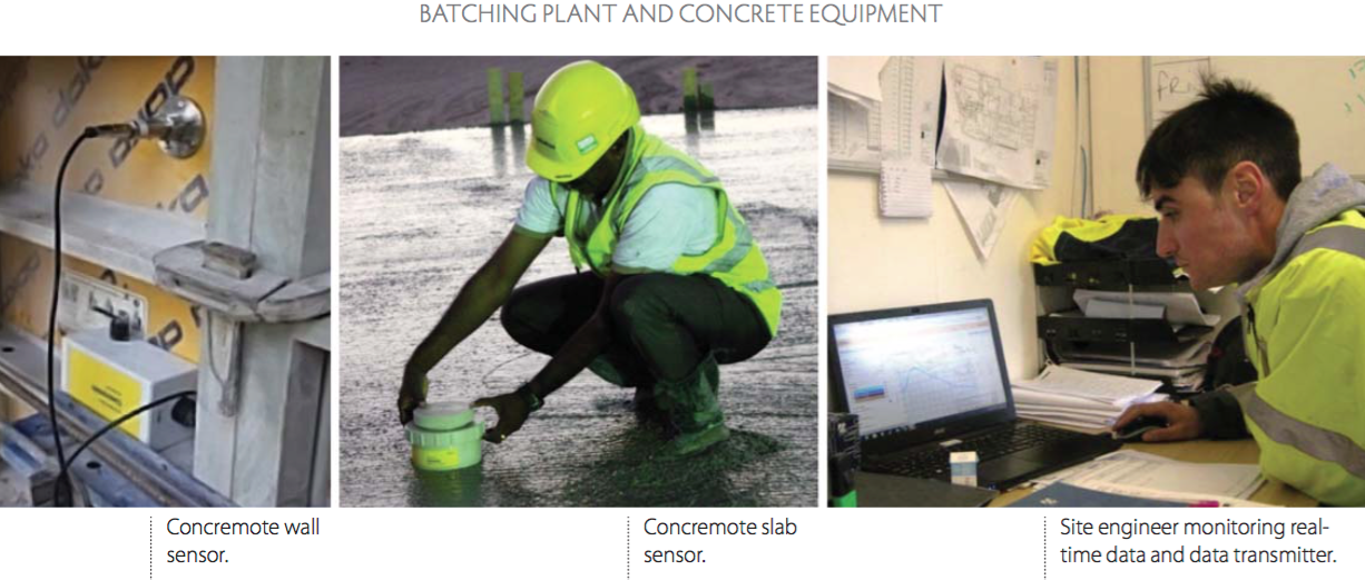Smart technology for measuring concrete maturity