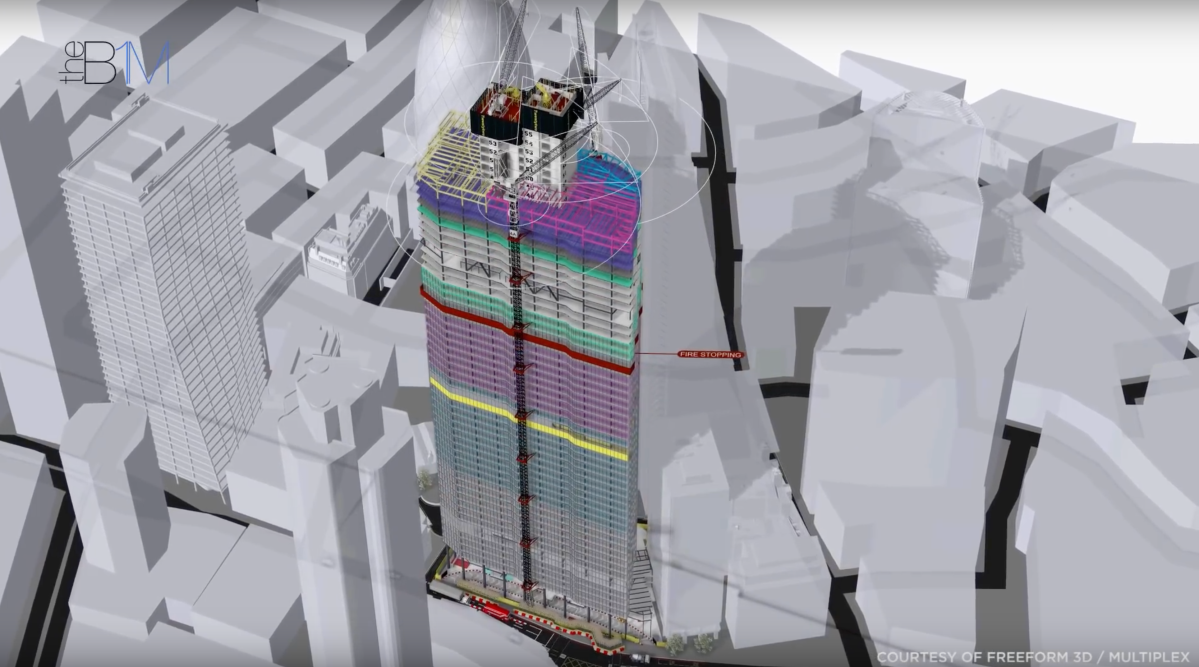 "The full 4D build animation of ""22 Bishopsgate"": One of London's tallest new skyscrapers"