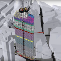 """The full 4D build animation of """"22 Bishopsgate"""": One of London's tallest new skyscrapers"""